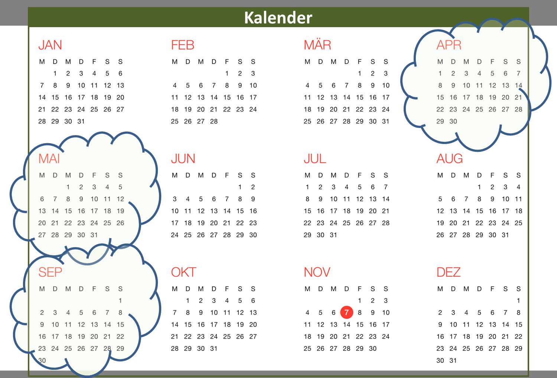 Rasen anlegen - Kalender